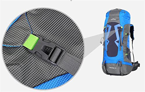 Borsa uomini e donne spalla borsa da viaggio impermeabile grande capacità di alpinismo all'aperto zaino 60 / 70L ( colore : Viola , dimensioni : 70L )