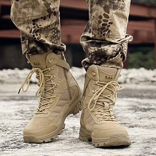 HCBYJ Schuhe Autumn and Winter high Stiefel, Men's Locomotive schuhe, Outdoor Desert Stiefel, Tactical Stiefel, Combat Stiefel