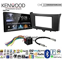 Volunteer Audio Kenwood DMX7704S Double Din Radio Install Kit with Apple CarPlay Android Auto Bluetooth Fits 2011-2014 Smart Fortwo