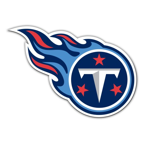 Tennessee Titans Vinyl (NFL Tennessee Titans 12-Inch Vinyl Logo Magnet)