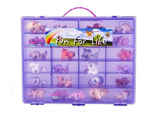 Fun For Life Organizer for 60 Littlest Pet Shop and Ugglys Characters, Light Purple/Grape