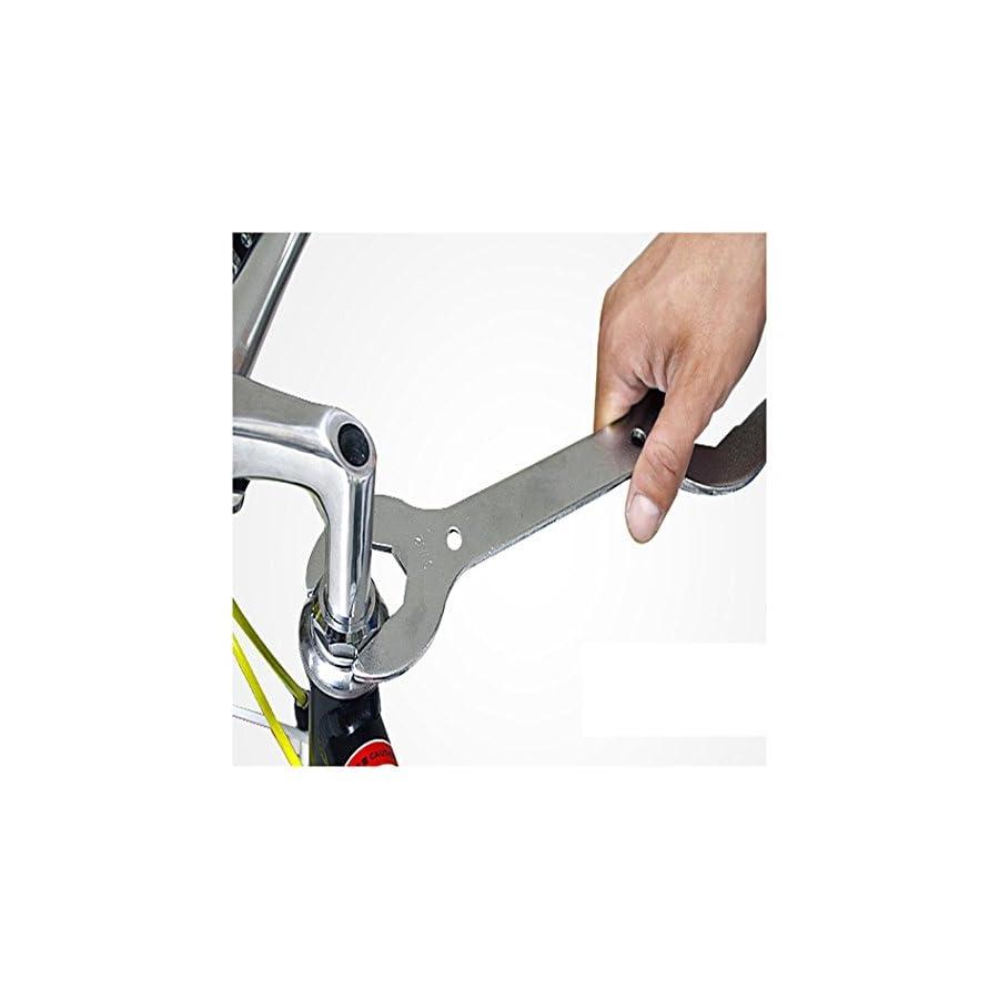 Bike Wrench Tool, Inkach MTB Mountain Bike Headset Wrench Spanner 30 32 36 40 mm Multi Head Repair Tool