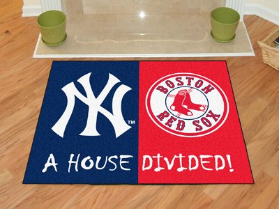 MLB - New York Yankees - MLB - Boston Red Sox House Divided Rugs Rectangular - New York Yankees Baseball Rug