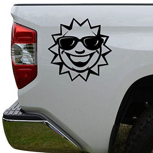 Sun Cool Sunglasses Die Cut Vinyl Decal Sticker For Car Truck Motorcycle Window Bumper Wall Decor Size- [10 inch/25 cm] Wide Color- Matte - Rosie Sunglasses
