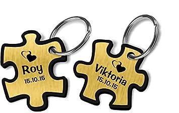 Wunschnamen Gravur 1 Puzzleteil // Puzzle inkl Schlüsselanhänger