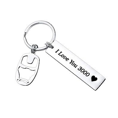 Amazon.com: SUNSH I Love You 3000 Keychain Avengers Keychain ...