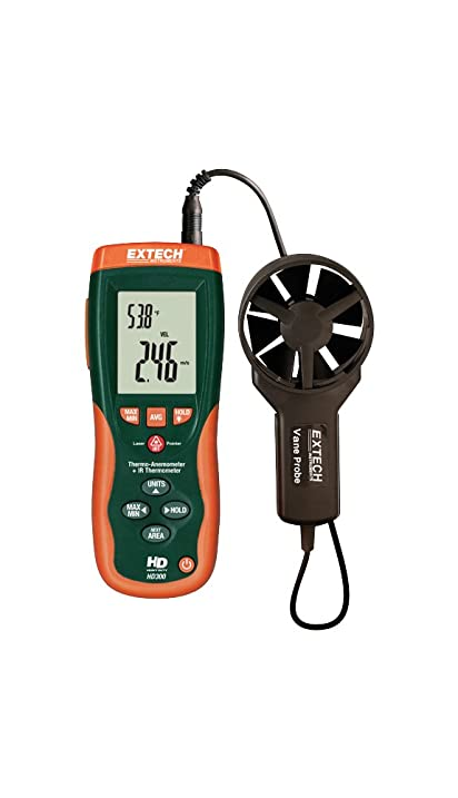 Extech HD300-NIST CFM/CMM Thermo-Anemometer with Built-in Infrared Thermometer