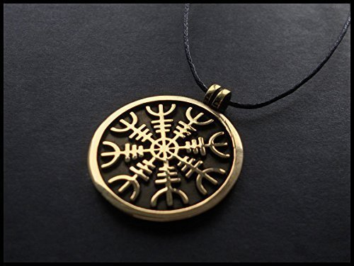 Amazon aegishjalmur the helm of awe viking norse protection aegishjalmur the helm of awe viking norse protection pendant necklace talisman with adjustable string aloadofball Images
