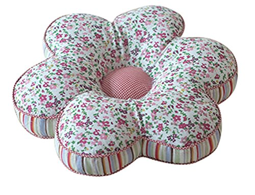 LivebyCare Floral Stuffed Chair Cushion Backrest Throw Pillow Doll Play Toy Filled Reading Seat Back Cushions Insert Filling Pad Cotton Cover for Decor Decorative Lounge Saloon
