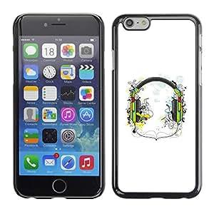 PC/Aluminum Funda Carcasa protectora para Apple Iphone 6 Music Headphones / JUSTGO PHONE PROTECTOR