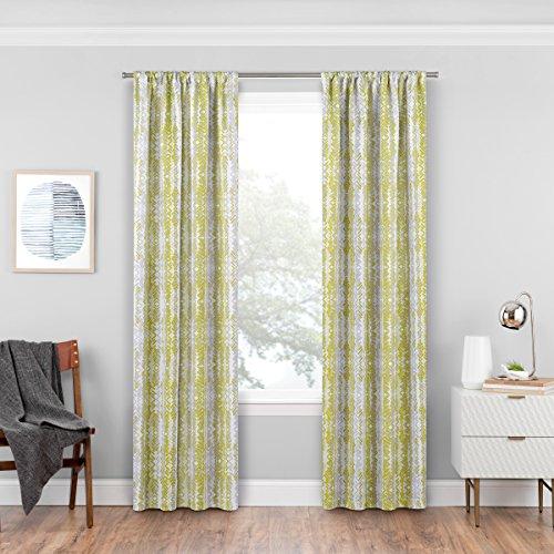 Eclipse Delaney Blackout Window Curtain Panel, Apple Green