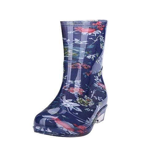 JEELINBORE Stivali di Gomma Donna Stivali da Pioggia
