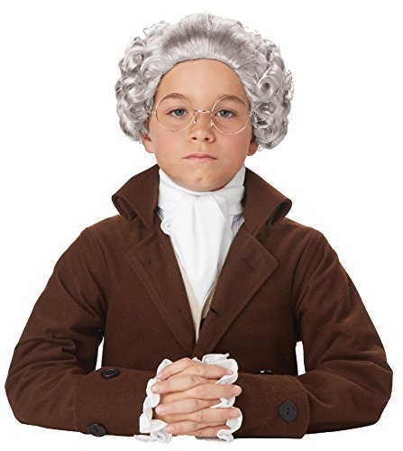 Colonial Boy Wig (California Costumes Colonial Peruke Wig Child Costume, ACC)