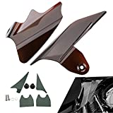 ECLEAR Saddle Shield Heat Air Deflector For Harley Street Glides 1997-2007 - Smoke