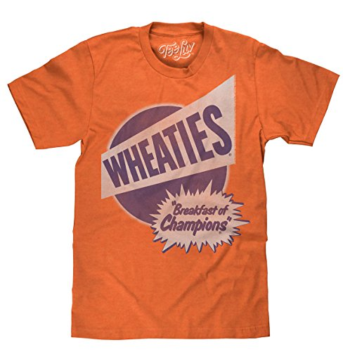 Tee Luv Wheaties T-Shirt - Wheaties Cereal Breakfast of Champions Shirt (X-Large) (Tee Retro Shirt)
