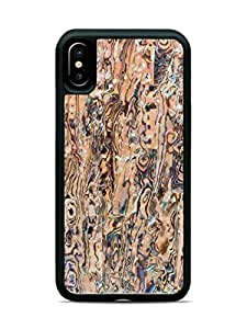iPhone X New Zealand Paua Shell Wood Traveler Protective Case by Carved, Unique Real Wooden Phone Cover (Rubber Bumper, Fits Google iPhone X)