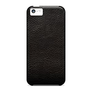 New Arrival Premium 5c Case Cover For Iphone (black Leather Style)
