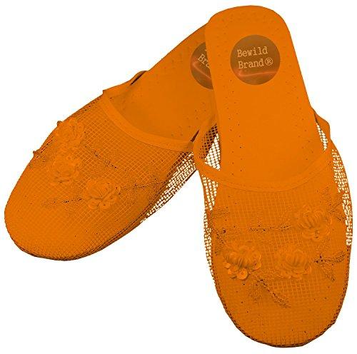 Pantofole Di Maglia Cinese Confortevole Marchio Bewild, Per Matrimoni E Abbigliamento Casual Arancione