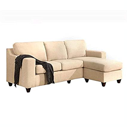 Tremendous Amazon Com Acme Furniture Vogue Reversible Chaise Sectional Bralicious Painted Fabric Chair Ideas Braliciousco