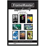 framemaster 24x36 poster frame 1 pack pre assembled with sturdy mdf backer board black