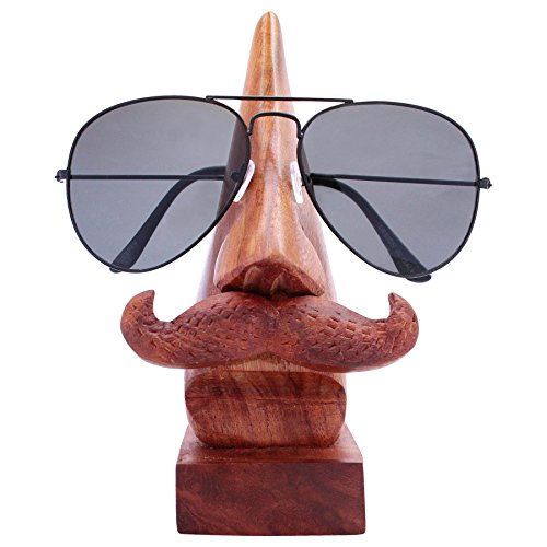ITOS365 Handmade Wooden Nose Shaped Spectacle Specs Eyeglass Holder Stand with - India Glasses Eye