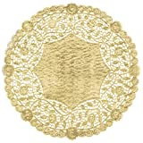 12'' Gold Foil Doily 100 Count Wedding Charger Plate