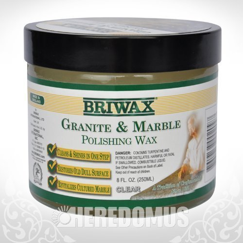 Briwax Granite and Marble Polishing Wax 8oz - Marble Wax