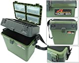 Fishing Tackle Seat Box Includes Padded Strap & Seat Pad Very Strong Freepost