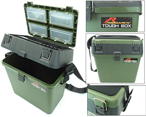 Fishing Tackle Seat Box Includes Padded Strap & Seat Pad Very Strong...