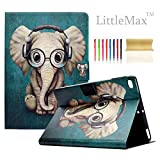 iPad 9.7 2017 / Air / Air 2 Case, LittleMax(TM) Ultra Slim PU Leather Lightweight Case Flip Folio Stand Smart Cover with Auto Wake / Sleep for Apple iPad 9.7 Inch 2017, Air 1 2 - # Elephant