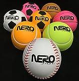 Nero NS200 High Bounce Ball Street Edition 4 Different Looks Tennis Soccer Basketball Baseball Play Games With Friends Street Park Back Yard Work Agility Wholesale Bulk (12pckmix)