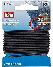 Prym 971231 - Elastisch koord - diametro 2.5 mm - 3 meter lang - Kleur zwart, diametro 2.5 mm x 3m