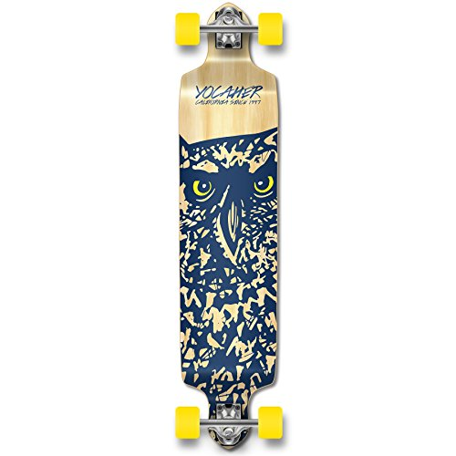 (Yocaher Spirit Owl Longboard Complete Skateboard Cruiser - Available in All Shapes (Drop Down))