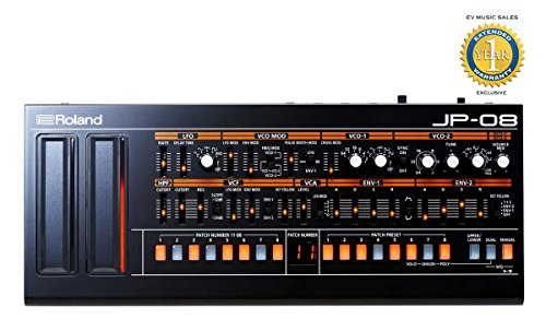 Roland Boutique JP-08 Limited-edition 4-Voice Synthesizer Module with 1 Year Free Extended Warranty by Roland