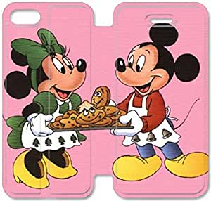Disney Mickey Mouse Minnie Mouse-4 iPhone 6/6S 4.7 Inch Leather Flip Case Protective Cover New Colorful
