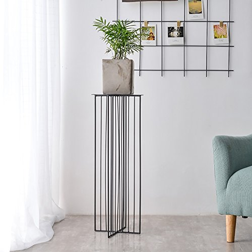 XiYunHan Geometry Flower Stand, Iron Art Indoor Living Room Floor-standing Container Continental Upscale Balcony Outdoor A Few Flowers Shelf Single Layer Shelving Potted Plants Home Bracket