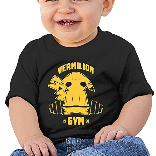 Price comparison product image Boss-Seller Vermilion Gym Short Sleeve Shirts For 6-24 Months Boys & Girls Size 12 Months Black