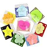Self Stick Notes, Removable Shaped Sticky Notes, Bright Color Self Adhesive Sticky Note, 20 Sheets 8 Pad (8 Colors)
