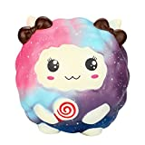 Celendi Cute Cartoon Sheep with Lollipops Squishy Toys Slow Rising Scented Squeezable Collection Stress Reliever (A)