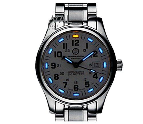 Gosasa Tritium Luminous Military Dive Sports Waterproof Quartz Mens (Tritium Sport Watches)