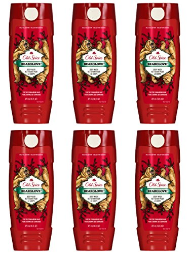 Body Wash for Men by Old Spice, Wild Collection Men s Body Wash, Bearglove, 16 Fluid Ounce Pack of 6