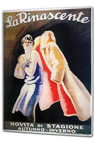 Tin Sign XXL Bar Restaurant Fashion fur coat La - Rinascente La