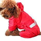 Alfie Pet by Petoga Couture - Willis Rainy Days Waterproof Raincoat (for Dogs and Cats) - Color: Red, Size: Medium