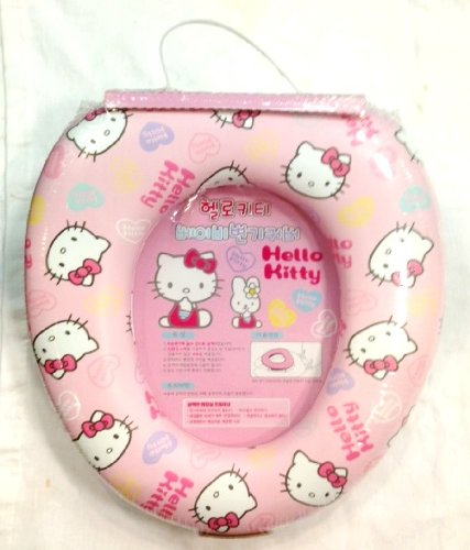 Hello Kitty Baby PINK Toilet Soft Seat Cover / Potty Training - Hello Kitty Face Print