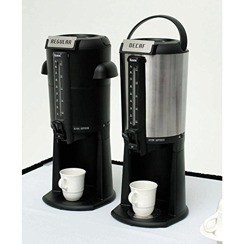 (Thermal Gravity Beverage Dispenser 2 1/2 L Black and Stainless Steel)