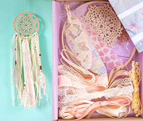 Dreamcatcher DIY kit Kids Craft kit Party Favour Art Craft kit of making dreamcatcher Diameter 6.2 inches (15.5 cm) Doily Dream catcher Do It Yourself Birthday Party Activity from WORLDREAMER