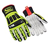 Ringers Gloves R-260 Roughneck Cotton Heavy Duty Impact Glove, Cotton Corded Palm, CE Level 2 Cut Protection, Large