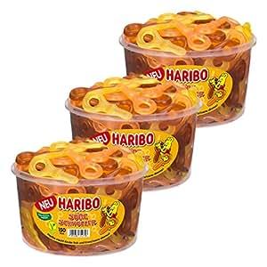 HARIBO Süße Chupete, Juego de 3, Golosinas con Cola de Sabor ...
