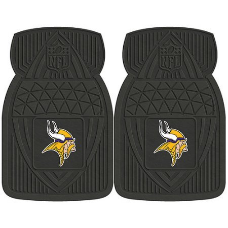 NFL 4-Piece Front #36572630 and Rear #19888896 Heavy-Duty Vinyl Car Mat Set, Minnesota Vikings by Sports Licensing Solutions LLC
