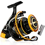 Burning Shark Fishing Reel - Carbon Fiber 25 LBs Max Drag - 12+1 Stainless BB Saltwater Freshwater Fishing, Light Smooth Spinning Reels